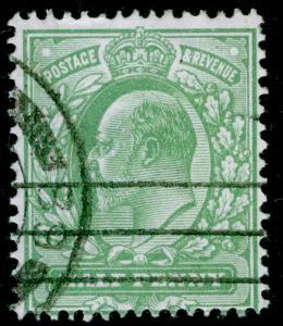 SG279 SPEC M4(4), ½d pale bluish green, FINE USED. Cat £45.