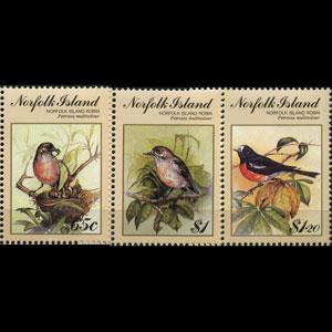 NORFOLK IS. 1990 - Scott# 497-9 Birds-Robins Set of 3 NH