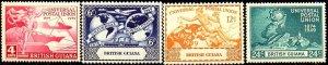 UPU, Universal Postal Union, 75th Anniv., British Guiana SC#246-249 MNH set