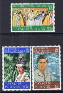 Cayman Islands MNH 379-81 QE II Silver Jubilee 1977