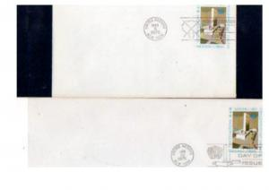 UN 2 OLDER $.10 POSTAL STATIONERY  FDC's