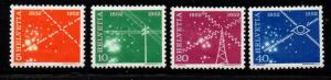 Switzerland Sc 340-3 1952 Telecommunications stamp set mint