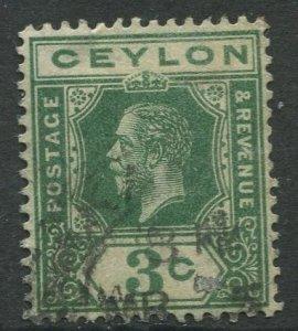 STAMP STATION PERTH Ceylon #202 KGV Definitive  Wmk 3  Used 1912-25