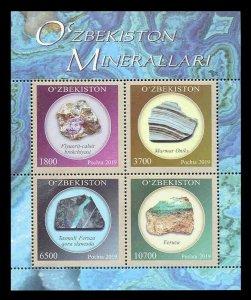 Uzbekistan 2019  minerals gemstones klb MNH