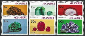 1987 Mozambique Beautiful Minerals, complete set VF/MNH!