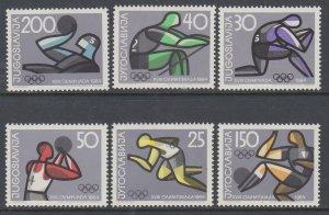 Yugoslavia 731-736 Summer Olympics MNH VF