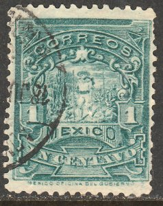 MEXICO 279 1cent MULITA UNWATERMARKED USED  F-VF. (169)