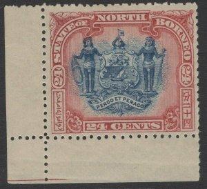 NORTH BORNEO SG109 1897 24c BLUE & LAKE p13½-14 MNH