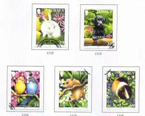 Jersey Sc 1093-97 2003 Pets stamp set used