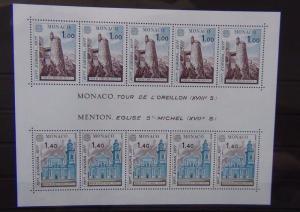 Monaco 1977 Europa Views Miniature sheet MNH