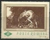 Romania Used/CTO Sc 1911 - Painting  Hercules and the Lion
