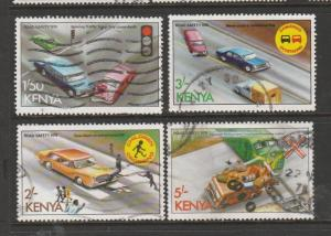 Kenya 1978 Road safety The top 4 vals Used SG 133/6