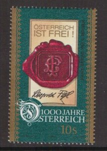 Austria    #B1710h  MNH  1996  Austria millennium  10s   treaty 1955