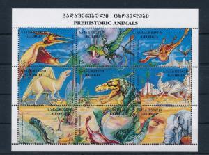 [30277] Georgia 1998 Pre Historic Animals Dinosaurs MNH Sheet