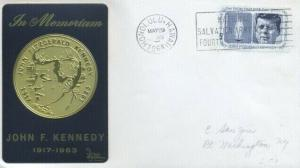 1246 5c JOHN F. KENNEDY - Sarzin Metallic cachet - Honolulu, Hawaii