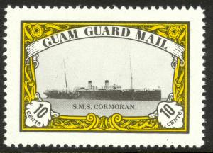 US GUAM GUARD MAIL 1979 10c SMS CORMORAN Local Post Issue MNH