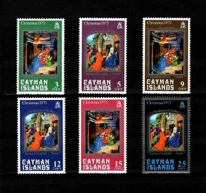 CAYMAN IS - 1973 - CHRISTMAS - NATIVITY - MAGI - PAINTINGS - MINT - MNH SET!