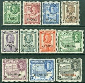 EDW1949SELL : SOMALILAND PROTECTORATE 1951 Scott #115-26 Cplt set VF MNH Cat $55