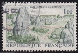 France 1130 USED 1965 Camac Prehistoric Stone Monuments