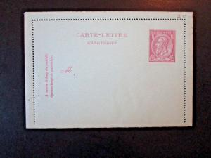 Belgium Late 1800s 10c Letter Card on Blue Card Stock - Z4871
