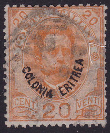 ERITREA ITALY  An old forgery of a classic stamp............................1002