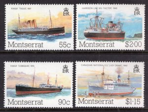 Montserrat 539-542 Ships MNH VF