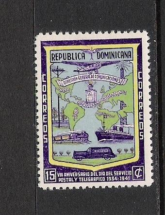 DOMINICAN REP. DOMINICANA 382 MNH MAP UPU P516