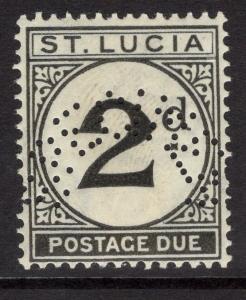 ST.LUCIA SGD4s 1933 2d BLACK POSTAGE DUE MTD MINT