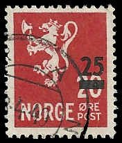 Norway - 302 - Used - SCV-0.25