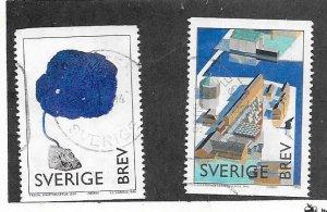 Sweden #2263-64 (U) CV $1.40