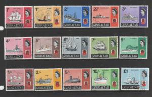 Gibraltar 1967 Ship defs VFU/CTO SG 200/13
