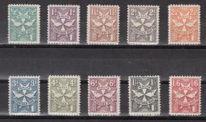 Malta Scott J11-20 Mint hinged (J19 short perf) - Catalog Value $58.30