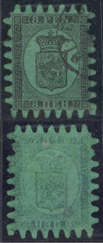 FINLAND Sc 7 REMARKABLE OFFSET USED F,VF SCV$200.00+