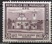 Paraguay; 1954: Sc. # C206: */MH Single Stamp