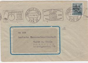 Germany Soviet Zone 1948 Halle Laternfest stamps cover  R20723