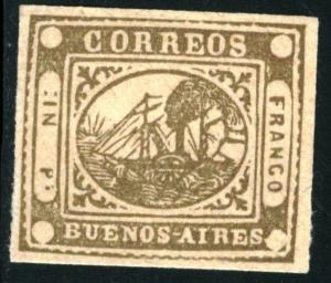 Argentina Buenos Aires - SC #1 - MINT (Forgery??) - 1858 - Item BUENOSAIRES006