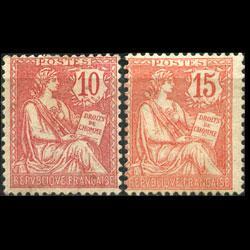 FRANCE 1902 - Scott# 133-4 Goddess 10-15c LH