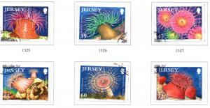Jersey Sc 1456-61 2010 Sea Anemones stamp set used