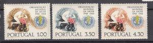 J27393 1968 portugal mnh set #1025-7 WHO