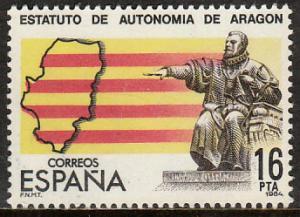 SPAIN 2366, ARAGON AUTONOMOUS STATUTE. MINT, NH. VF. (169)