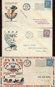 #718 (3) FIRST DAY COVERS BY IOOR AND LINPRINT CACHET BN639