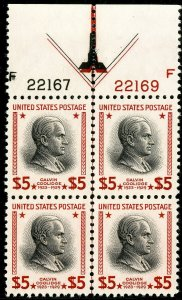 US Stamps # 834 MNH Superb Double arrow Plate Block of 4 fresh Gem