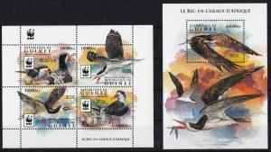 Guinea 2015 birds wwf klb+s/s MNH