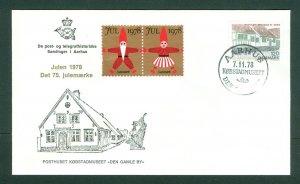 Denmark. Cover 1978. Post Old Town Aarhus 2 Christmas Seal 1978 + Scott# 617.