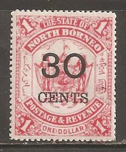 North Borneo  SC  77  Mint  Hinged