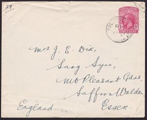 SIERRA LEONE 1919 GV 1d envelope - MILITARY use to UK ex Freetown...........7613