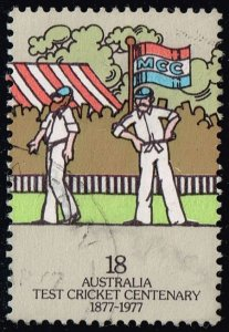 Australia #663 Two Fieldsmen; Used (0.45) (2Stars)