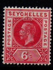 Seychelles Sc 65 1912 6c carmine rose George V stamp mint