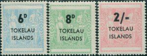 Tokelau 1966 SG6-8 NZ Arms surcharges MLH