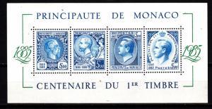 Monaco souv. sheet 1500 mnh